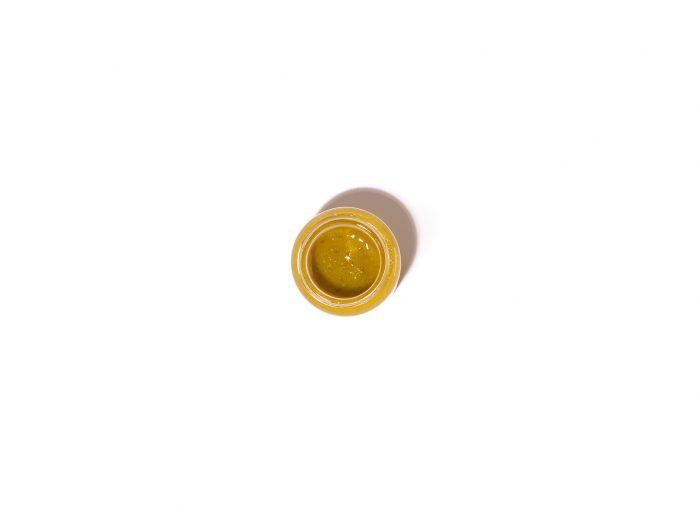 Petirroja-Salsa de pimiento de Padrón picante y pera Rocha portuguesa